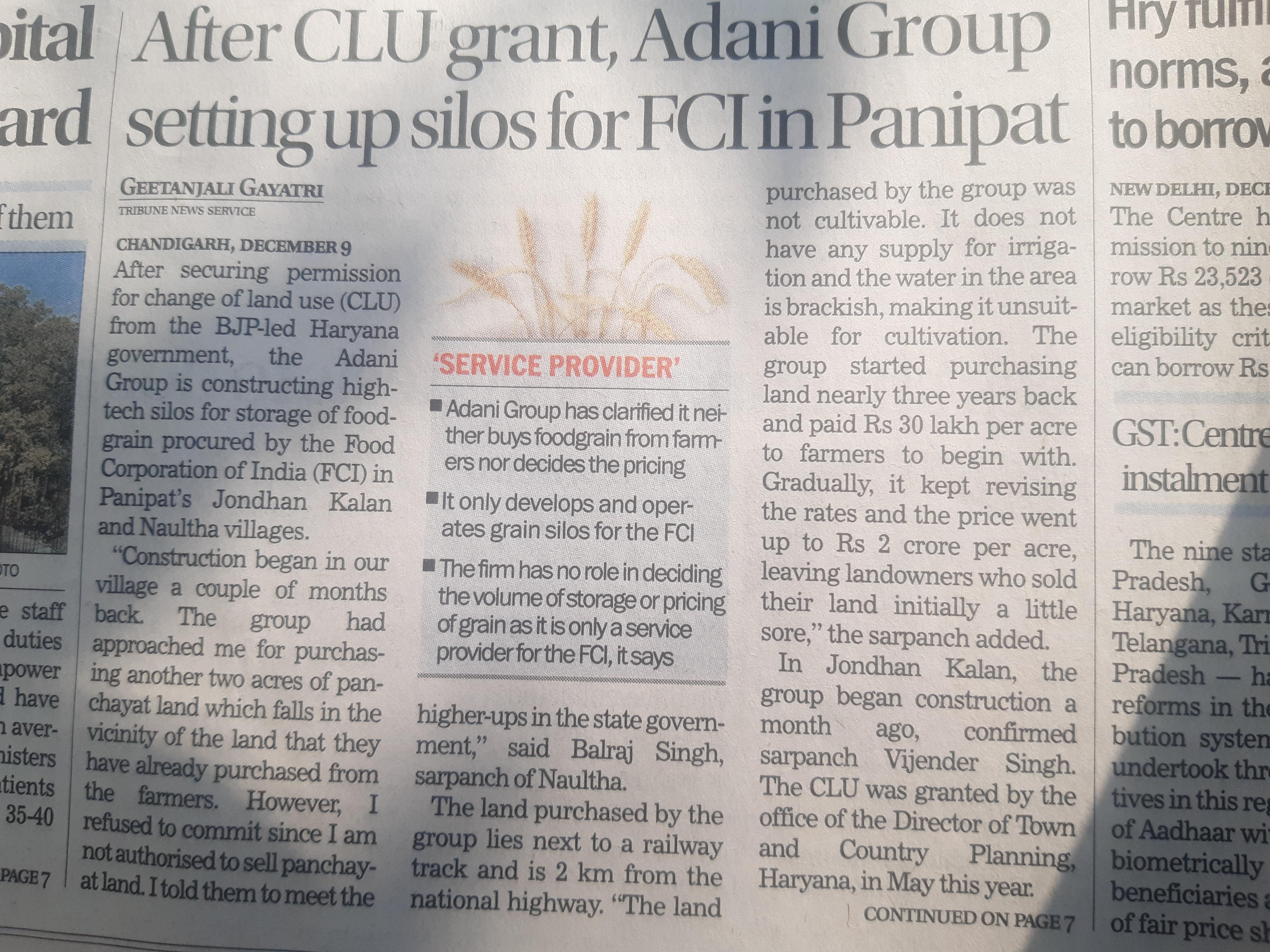 20201210_093249 News in Tribune about Adani Silos.jpg